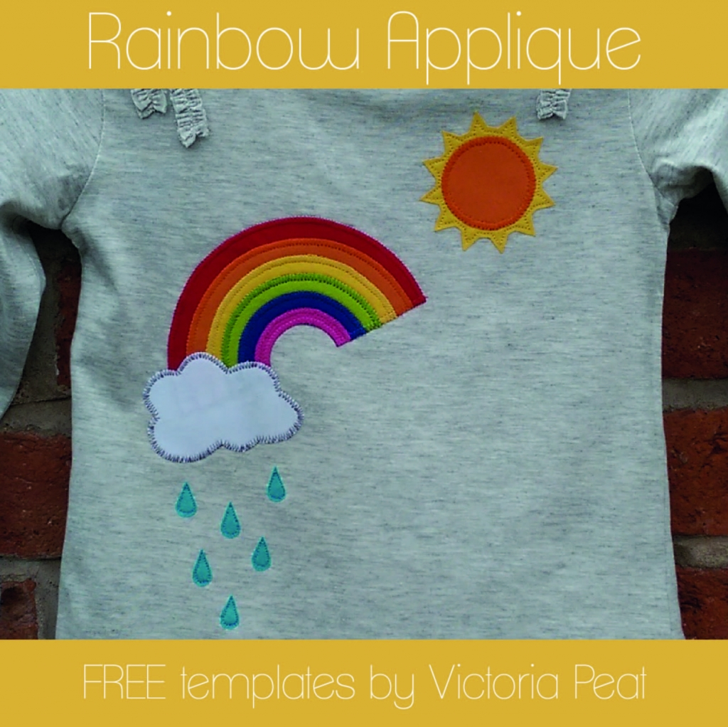 Rainbow Applique FREE templates