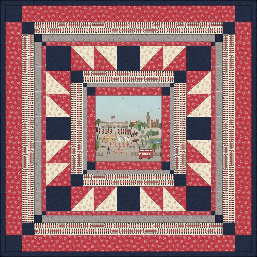 Britannia Quilt in Red