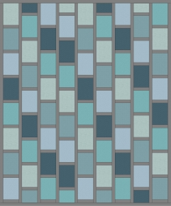 Grey Sashing Brick Quilt