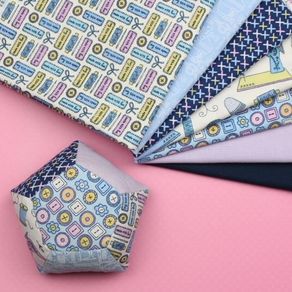 PentaPinne EPP KIT Fabrics and Finished Pincushion