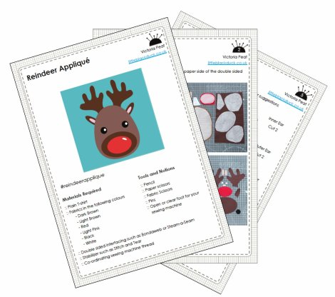 Reindeer Applique Example Pattern Pages