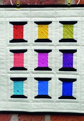 Spools of Thread Mini Quilt Wall Hanging