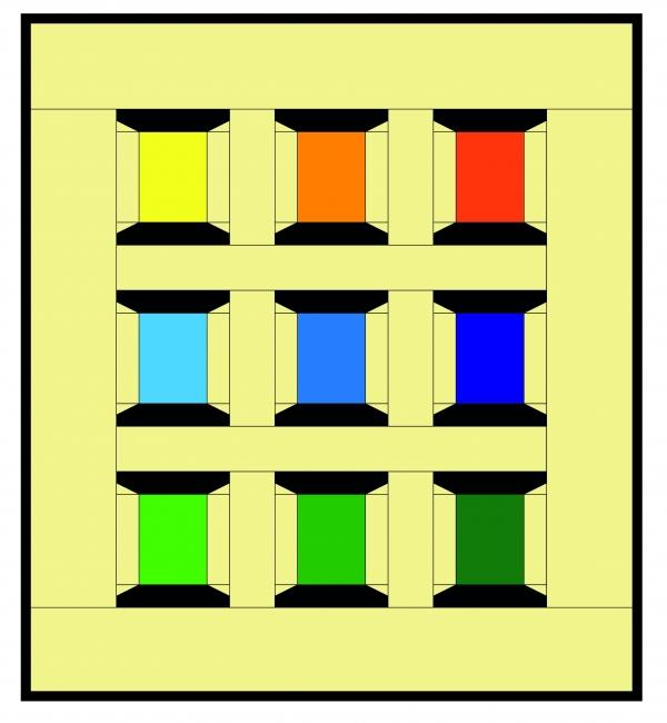 Spools of Thread Coloured Illustration