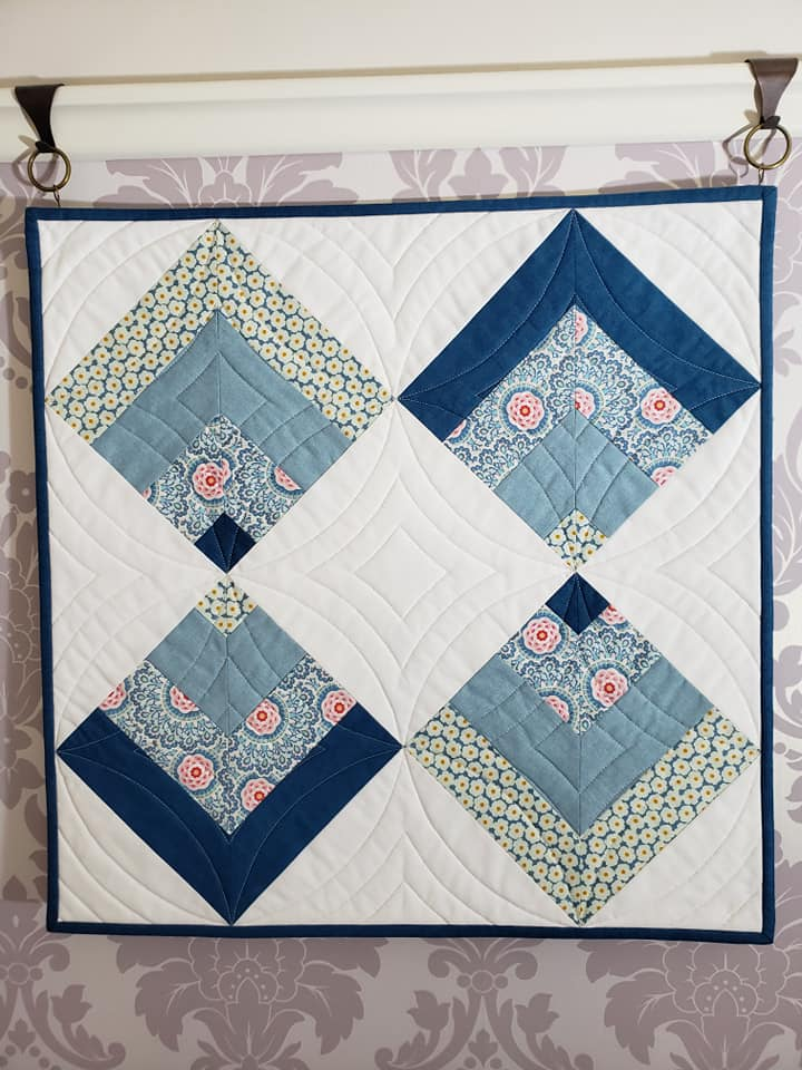 Susan McGurry Point on Point Wall quilting detail
