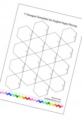 1 inch Hexies Printable Sample Page