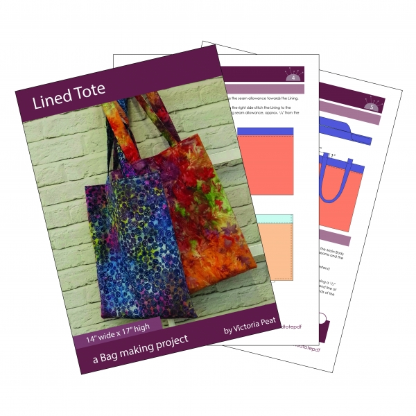 Sample Pages for Lined Tote Bag