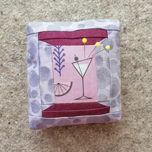 Spools of Thread Pincushion with Lewis and Irene