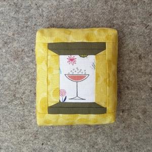 Spools of Thread Pincushion in mustard