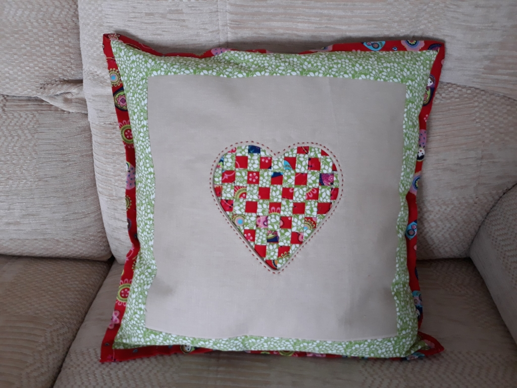 Dee Allison Reverse Applique Woven Heart