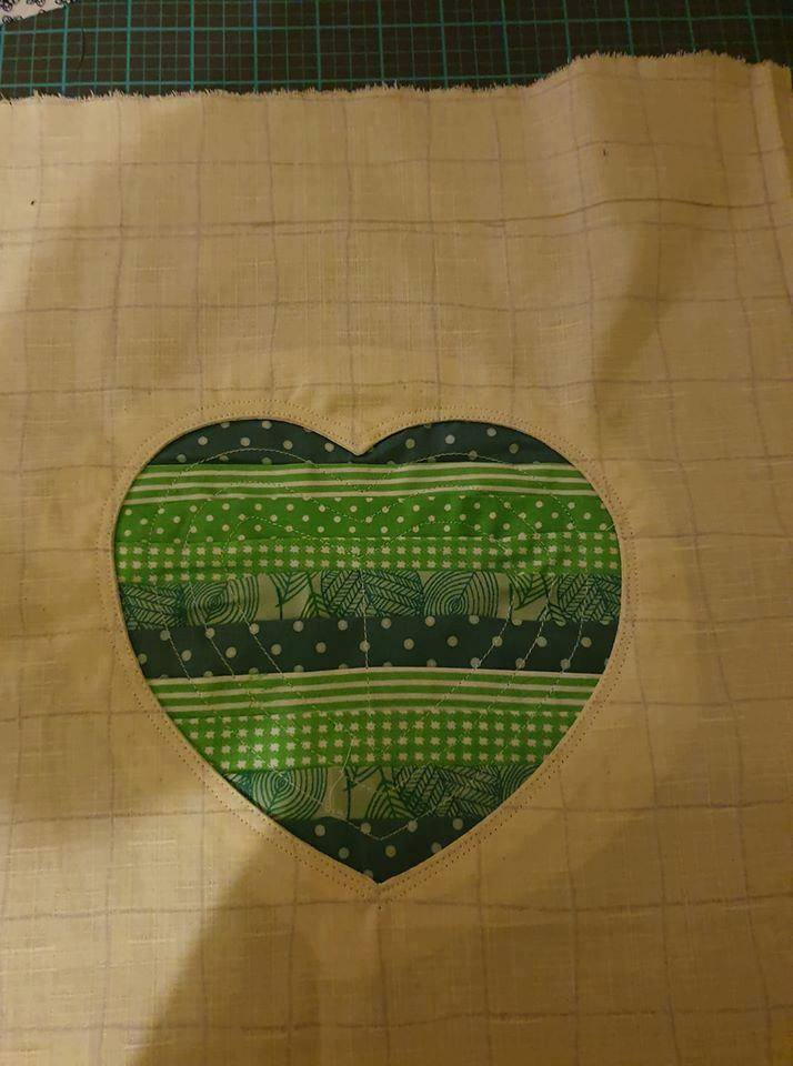 Lynne Callister Green Reverse Applique Heart