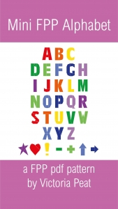 Mini FPP Alphabet pdf pattern