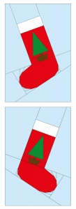 Style 1 Plain Christmas Stocking Left and Right