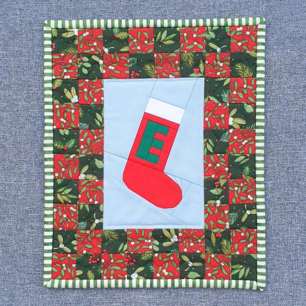 Christmas stocking Elf on the Shelf Quilt