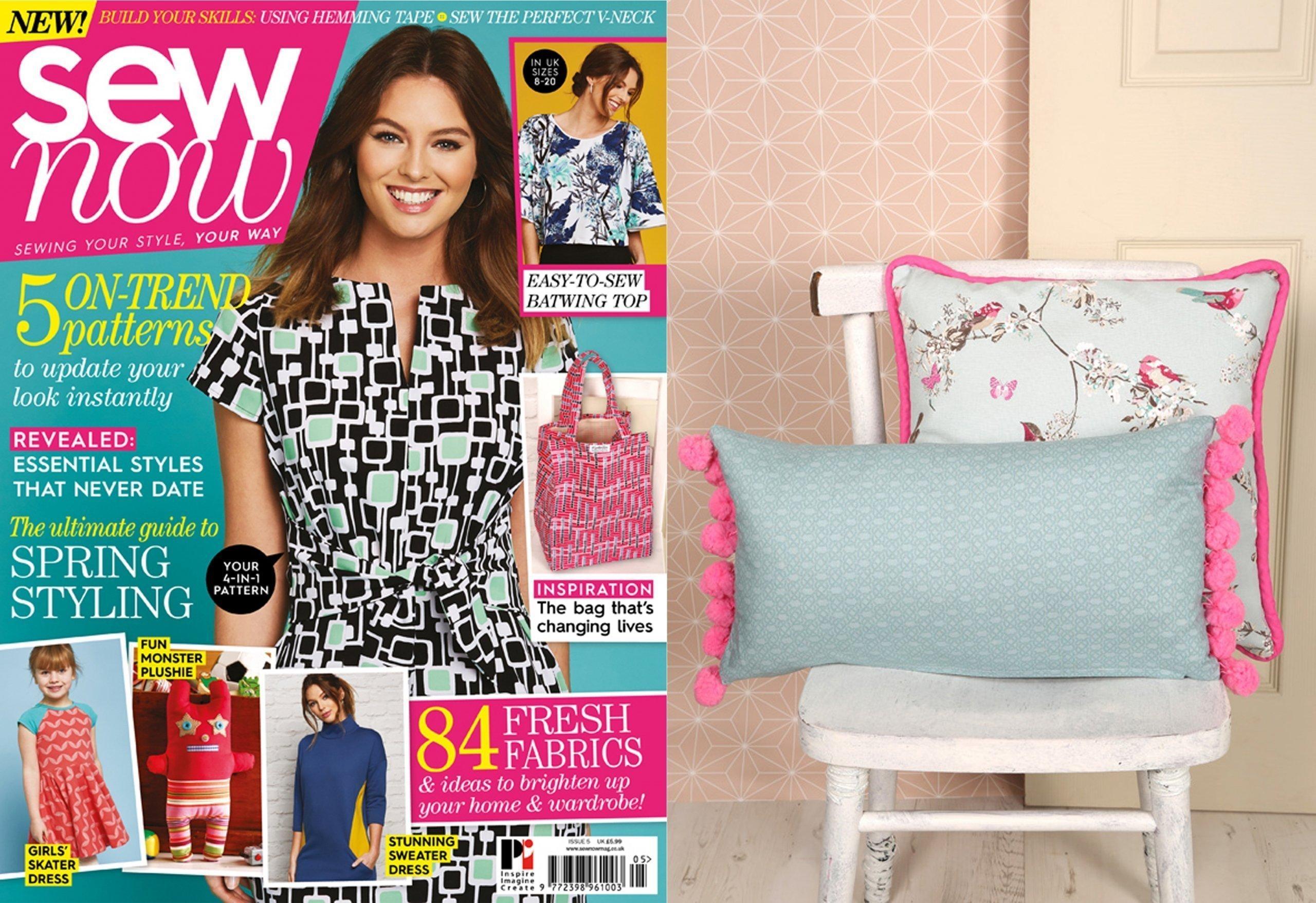 Giant PomPom Cushion for Sew Now Magazine