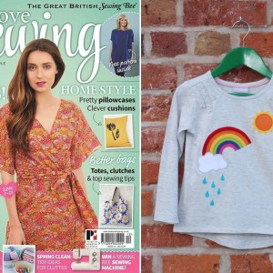 Rainbow Applique T-shirt Love Sewing Issue 12