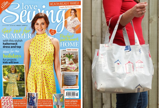 Love Sewing Issue 17 Feature Image Oilcloth Bag