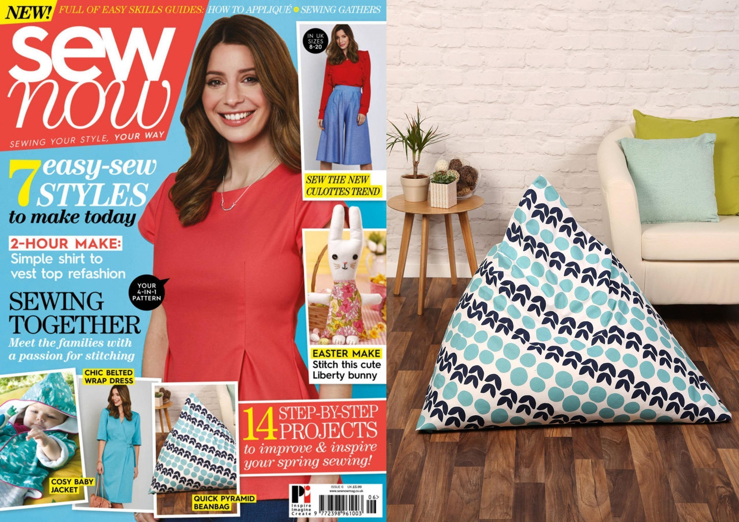 Pyramid Beanbag Feature in Sew Now magazine