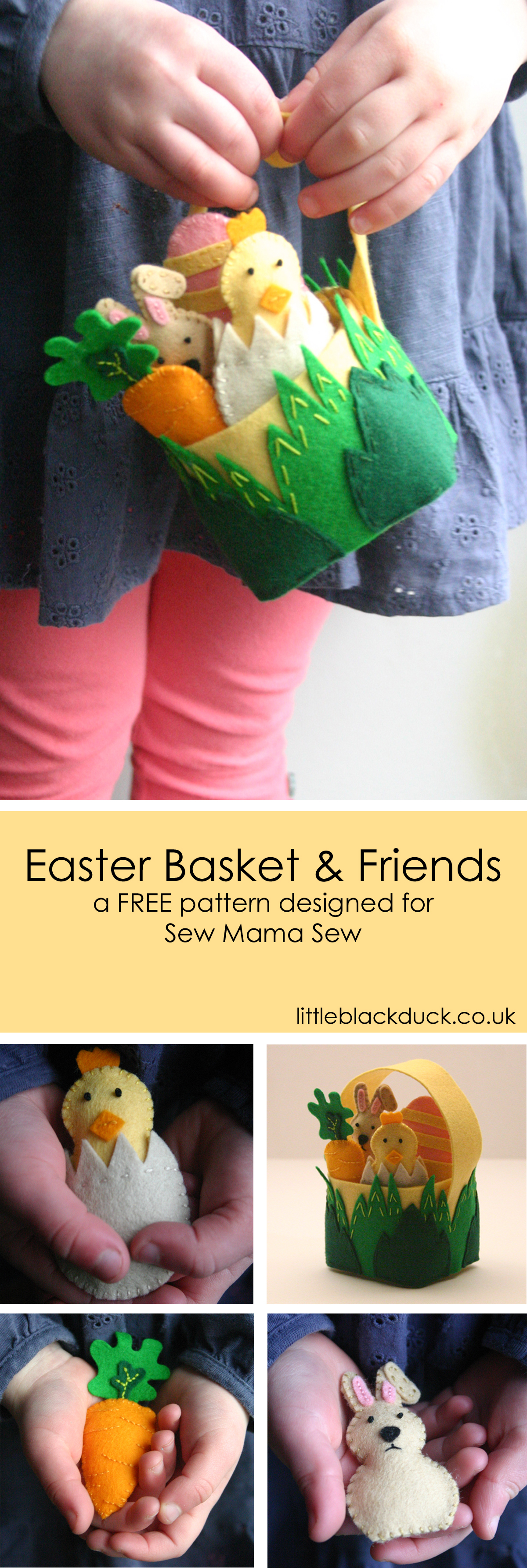 Easter Basket and Friends Free Tutorial