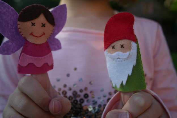 Gnome and Fairy Finger Puppets