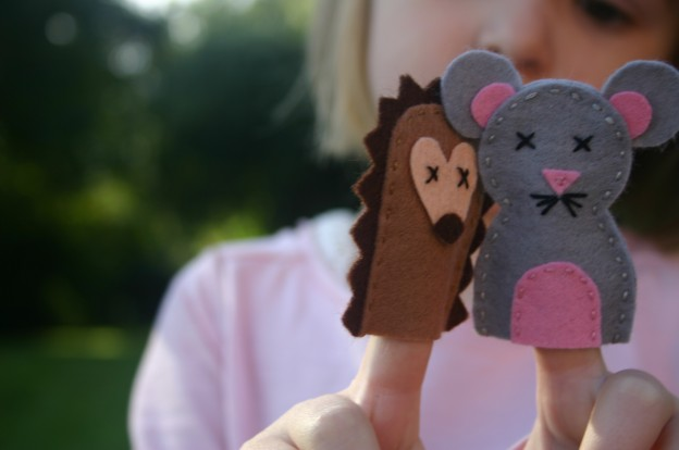 Mouse and Hedgehog Finger Puppets