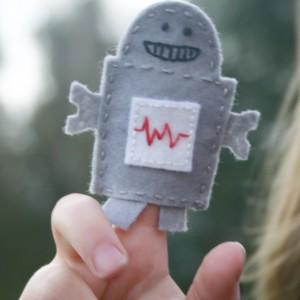 Robot Finger Puppet in Action
