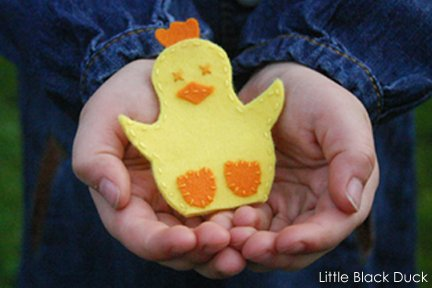 Chick Finger Puppet Sewing Pattern