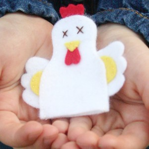 Hen Finger Puppet Sewing Pattern