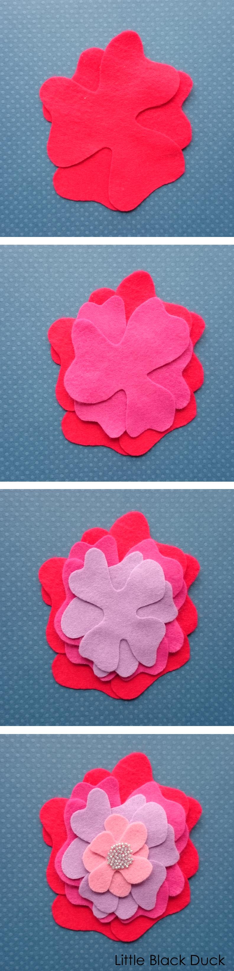 Layer the petals