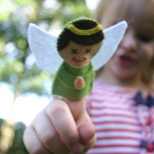 Angel Finger Puppet Pattern
