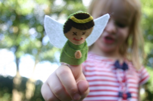 Angel Finger Puppet Pattern