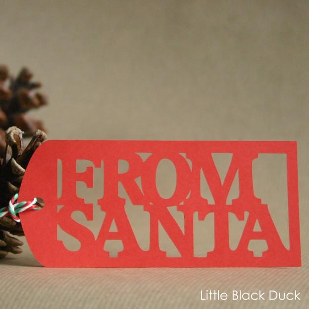 From Santa Gift Tag