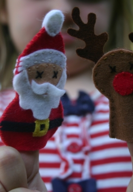 Santa and Reindeer Finger Puppets