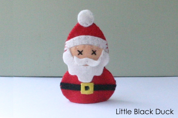 Santa Finger Puppet Sewing Pattern