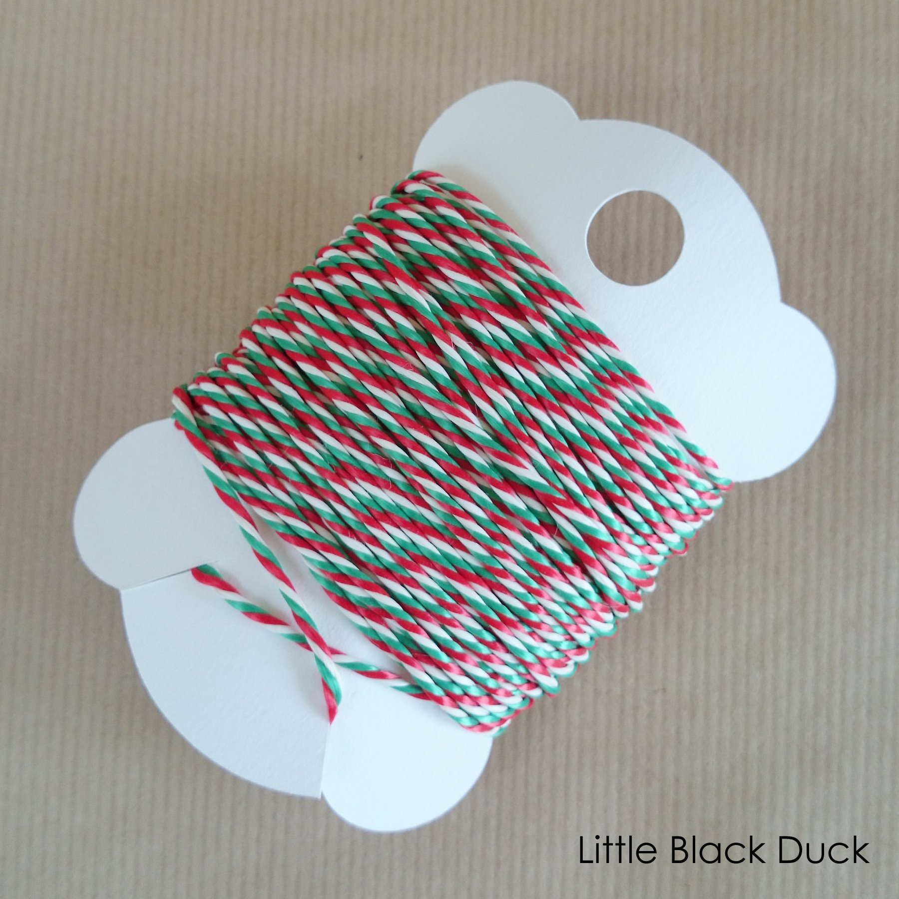 Candy Cane Bakers Twine on Card