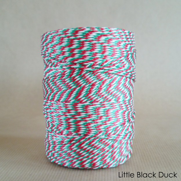 Candy Cane Striped Twine on spool