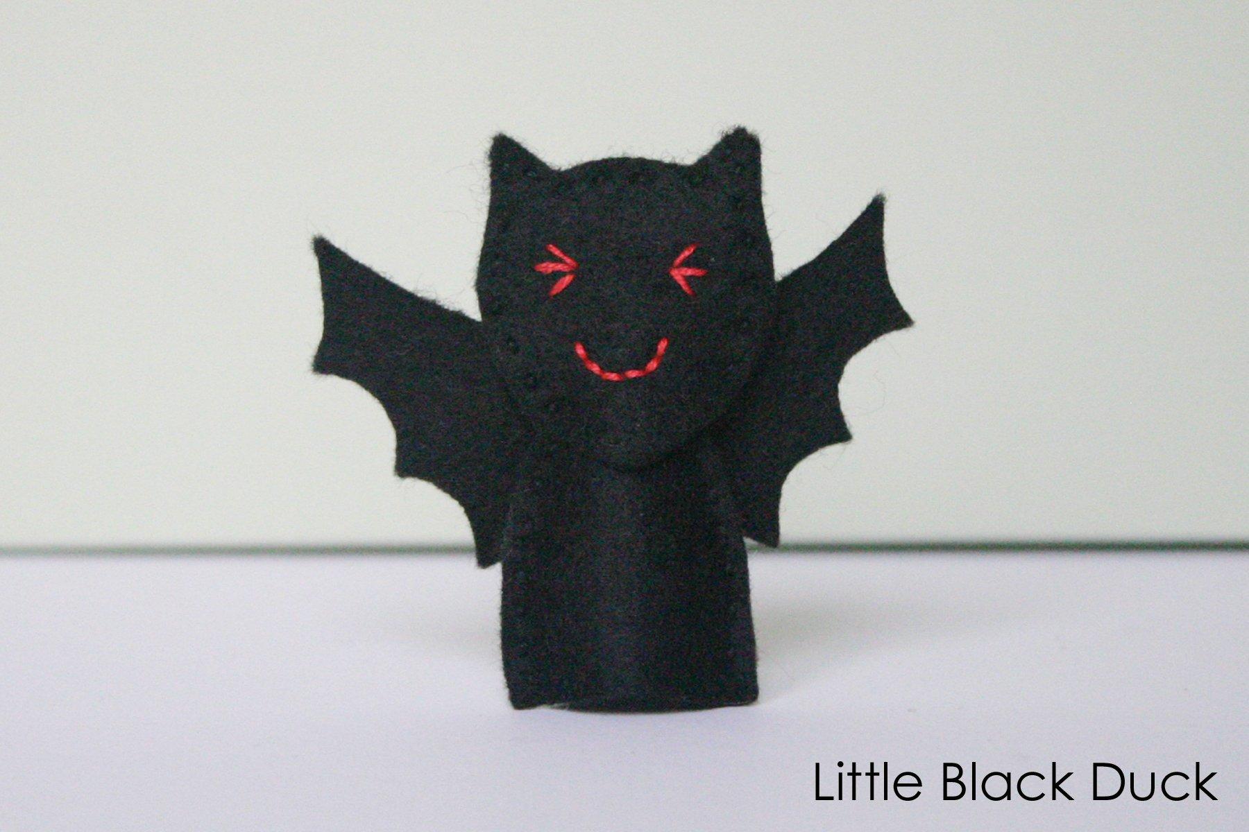 Bat Finger Puppet Pattern