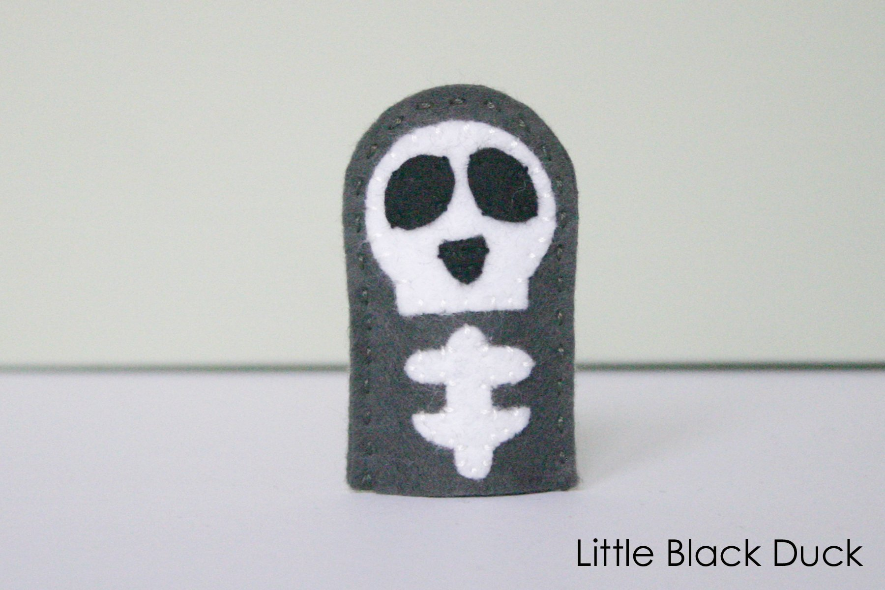 Skeleton Finger Puppet Sewing Pattern