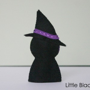 Witch Finger Puppet Sewing Pattern