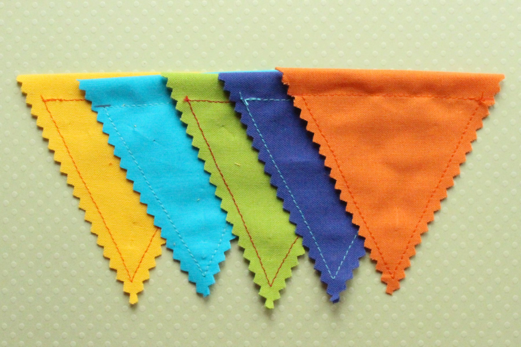Pinked Edges of Bunting Flags