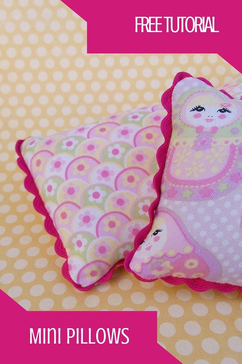 Mini Pillows Free Tutorial