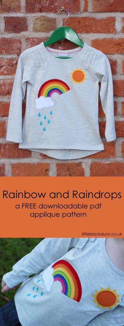 Rainbow Applique FREE download