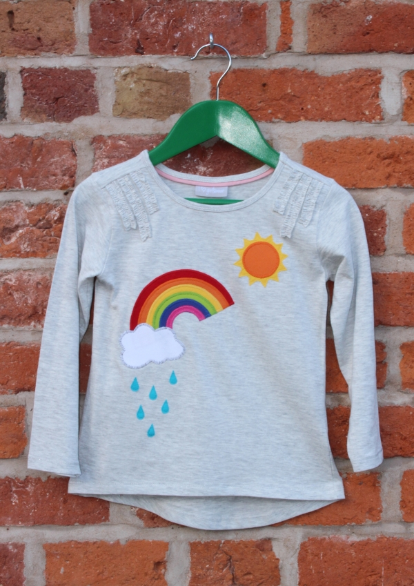 Rainbow T-shirt Applique