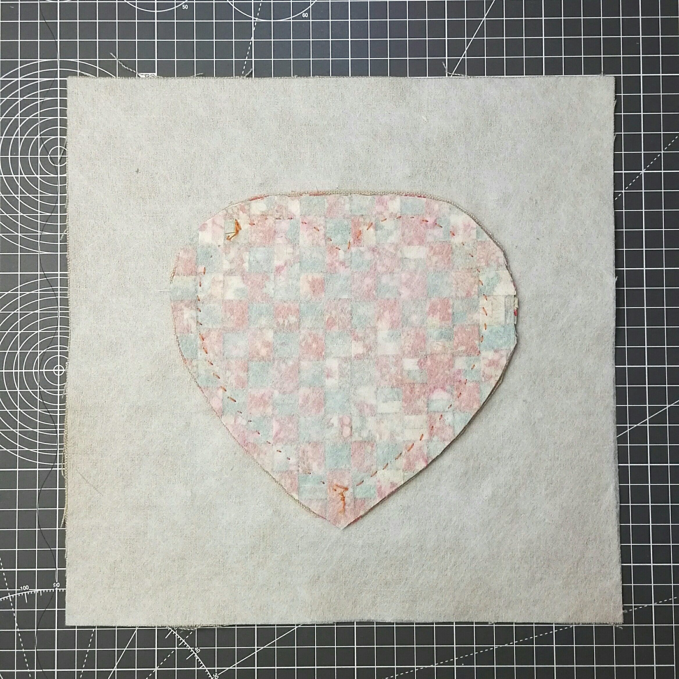 trim the back of the heart