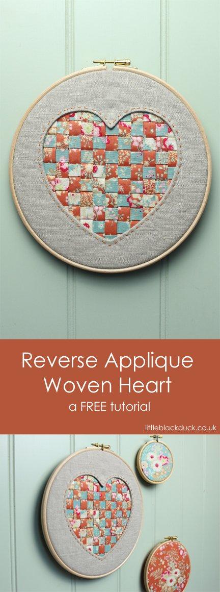 Reverse Applique Woven Heart Long Image