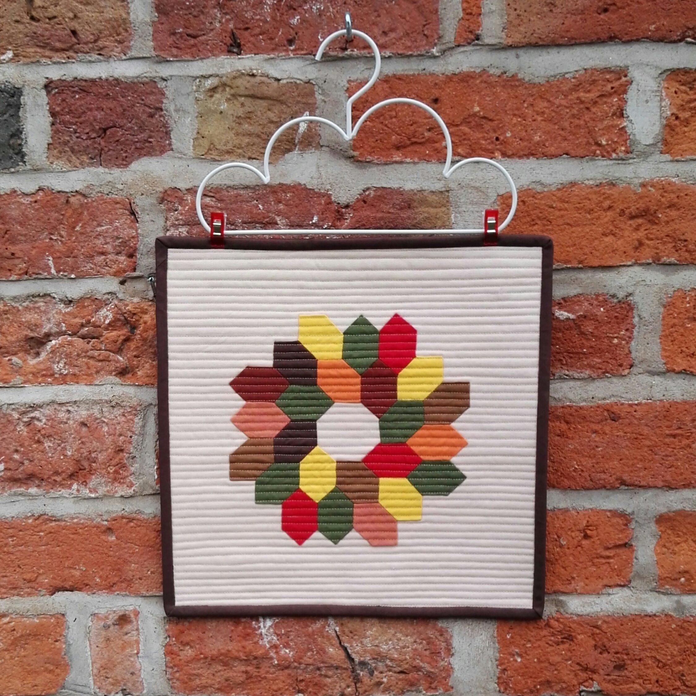 Autumn Wreath Mini Quilt