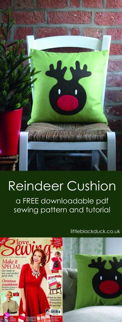 Reindeer Cushion FREE Tutorial