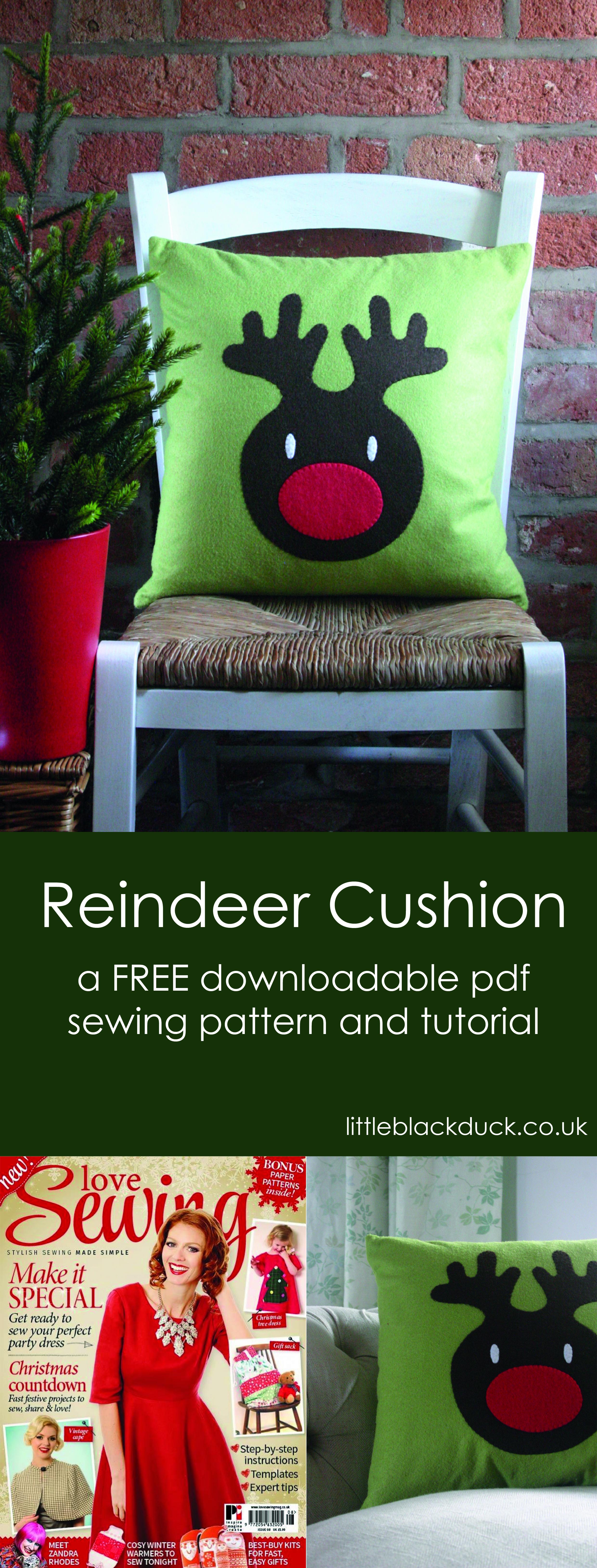 Reindeer Cushion free pattern