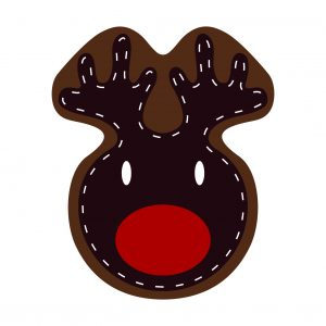 Reindeer Decoration Sew Face to Backing