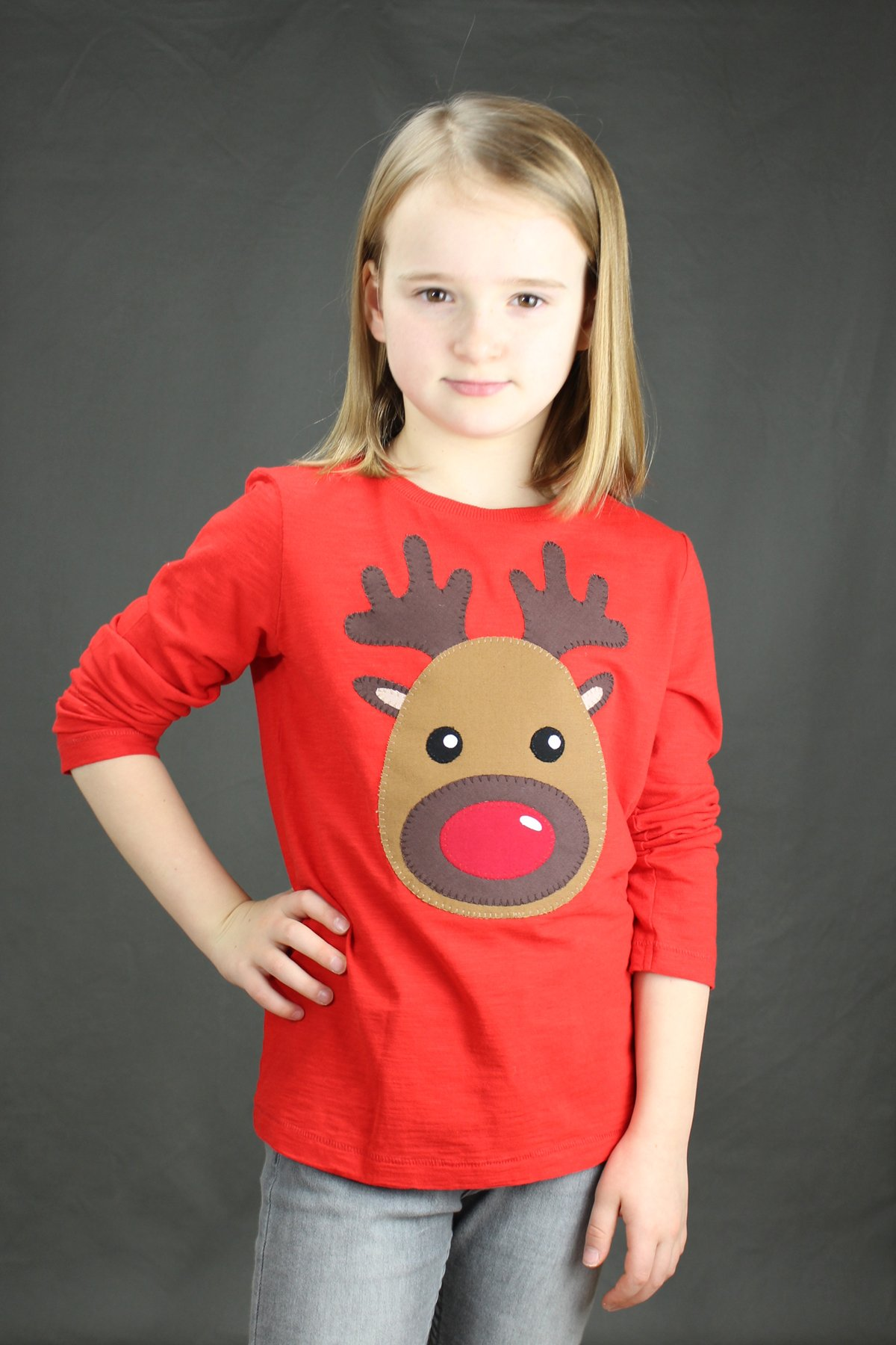 Reindeer Applique T-Shirt