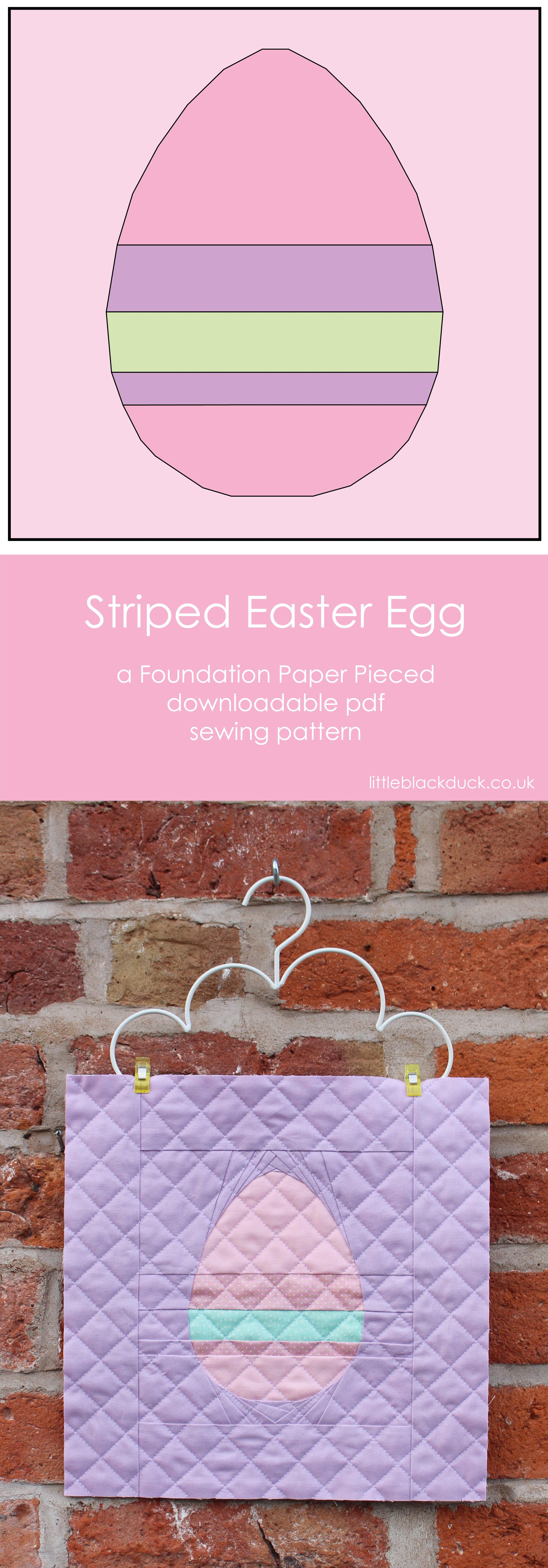 Striped Easter Egg FPP pattern